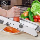 TTLIFE Adjustable Mandoline Slicer Professional Grater with 304 Stainless Steel Blades Vegetable Cutter Kitchen Accessories