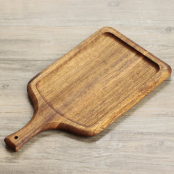 Black Walnut Real Wood Pizza Bread Tray Small Chopping Block Cutting Board Cooked Fruit Tray Pizza Plates