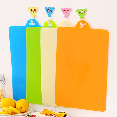 Flexible Plastic Cutting Board Mats ,Colorful Kitchen Cutting Board Colored Mats Set of 4