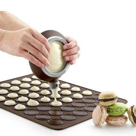 Non-stick Reusable 30-cavity Silicone Pastry Cake Macaron Macaroon Mat Oven Baking Durable Easy-cleaning Mould Sheet