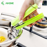 Creative Stainless Steel Spring Saucer Oven Clip Dish Holder Bowl Tongs Pot Clips Healthy Safety Kitchen Tool
