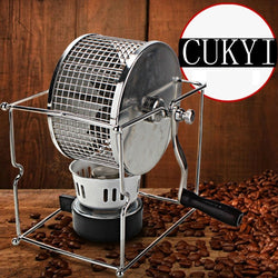 Stainless Steel Handuse Coffee bean roaster Espresso coffee bean Roaster with a burner machine Easy operating