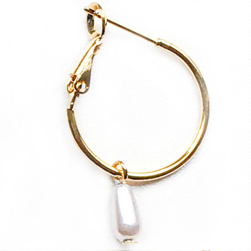 Steker Hoop and Pearls