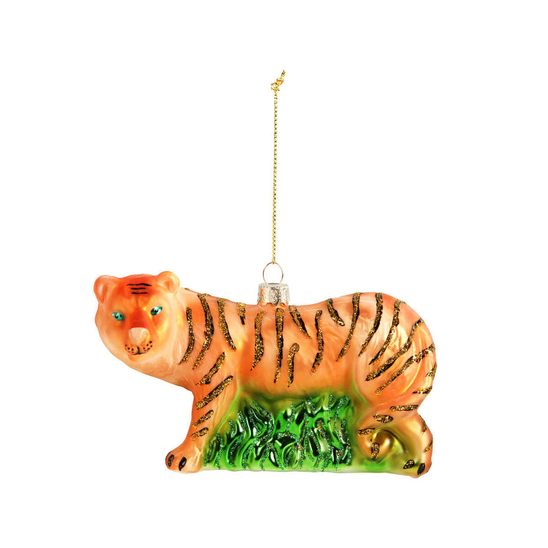 Mme Bovary Christmas tijger tiger Ornament kerstballen glas vintage large handmade retro nature inspired &klevering decoration xmas