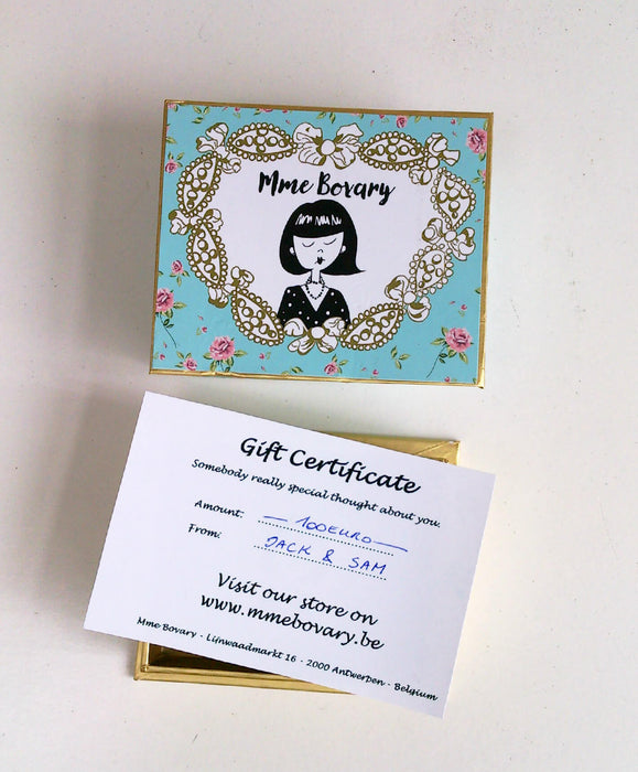 Mme Bovary Giftvoucher gift certificate gift cadeau perfect present 100 euro