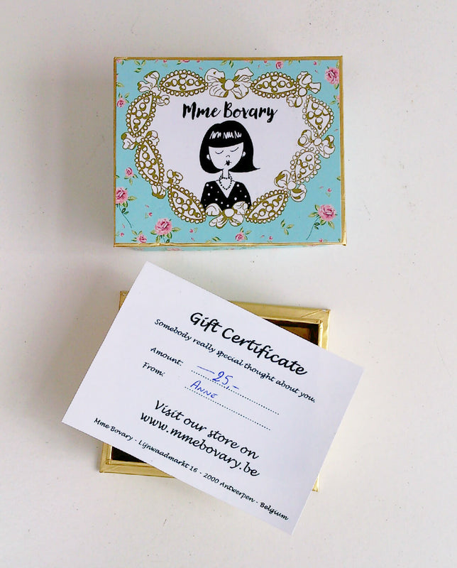 Mme Bovary Giftvoucher gift certificate gift cadeau perfect present 25 euro