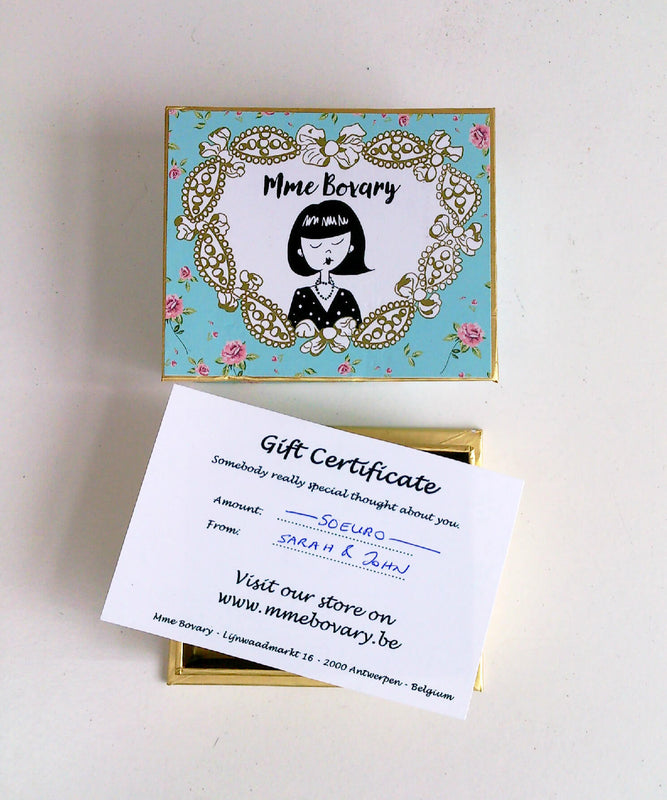 Mme Bovary Giftvoucher gift certificate gift cadeau perfect present 50 euro