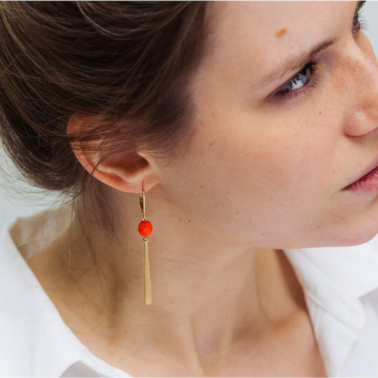 Allora Orange Zest (earrings only)