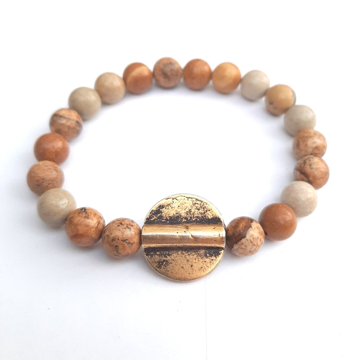 Mme Bovary Stay Gold Natural Matt Brown Jasper