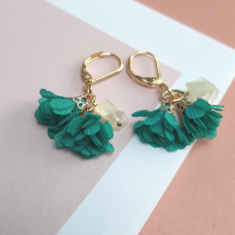 #StayGoldTogether (Earrings only) turquoise bloem