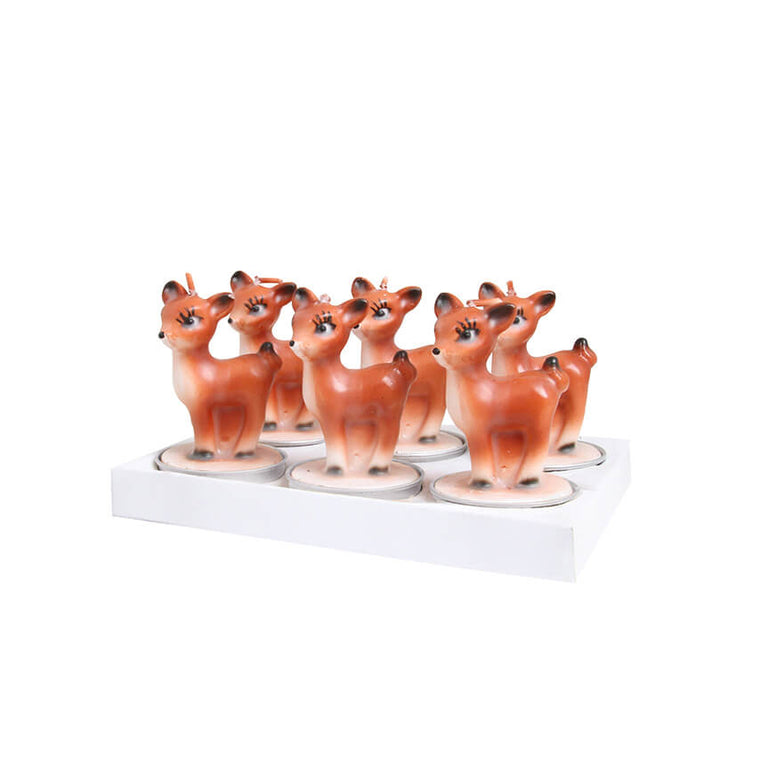 SALES -40% - Set van 6 mini vintage Bambi Kaarsen