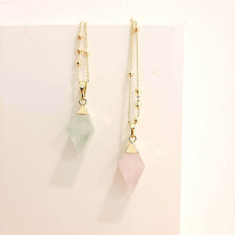 Rose Quartz - Pyrite Pendulum