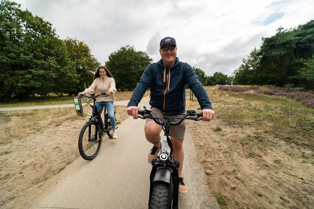 Friends riding their Rad Power Bikes electric bikes together