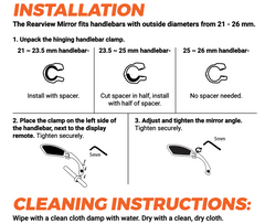 instructions for Rad Rearview Mirror