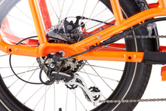 Free wheel orange bike frame