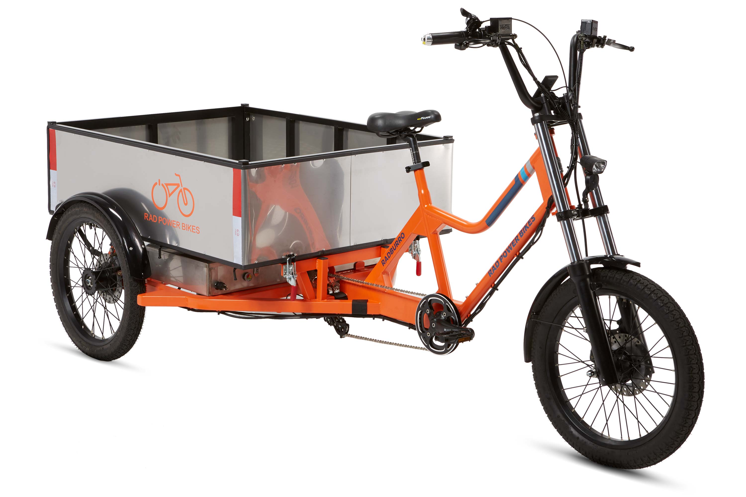 RadBurro Electric Cargo Trike truck bed