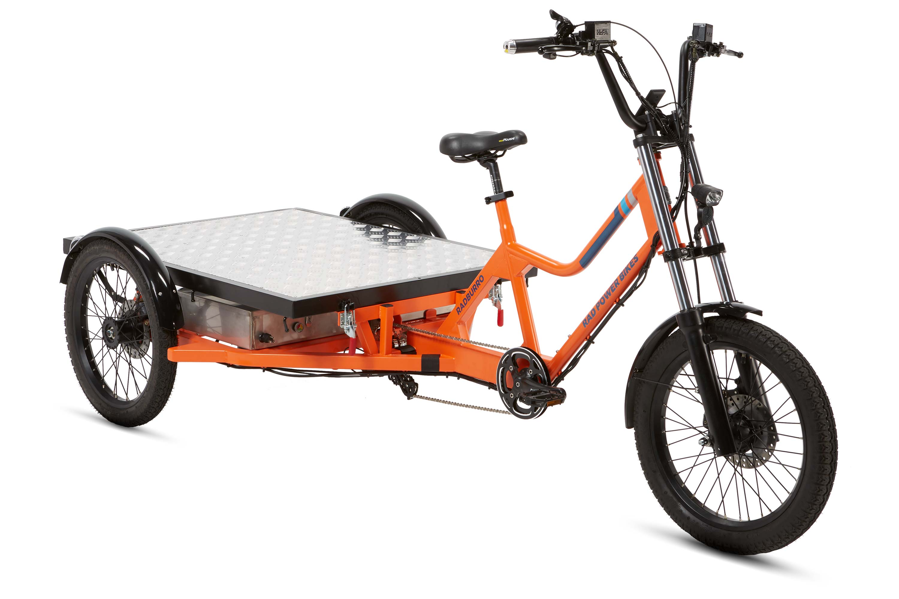 RadBurro Electric Cargo Trike flat bed