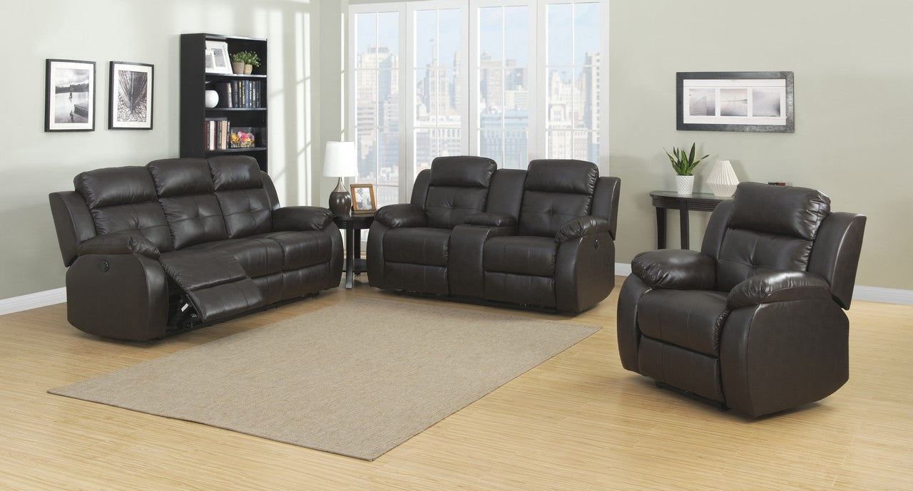 Troy power 3 piece transitional reclining living room sets