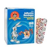 "Looney Tunes Adhesive Bandages 3/4"" x 3"" Assorted"