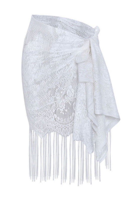 PAULA- SKIRT COVERUP- WHITE