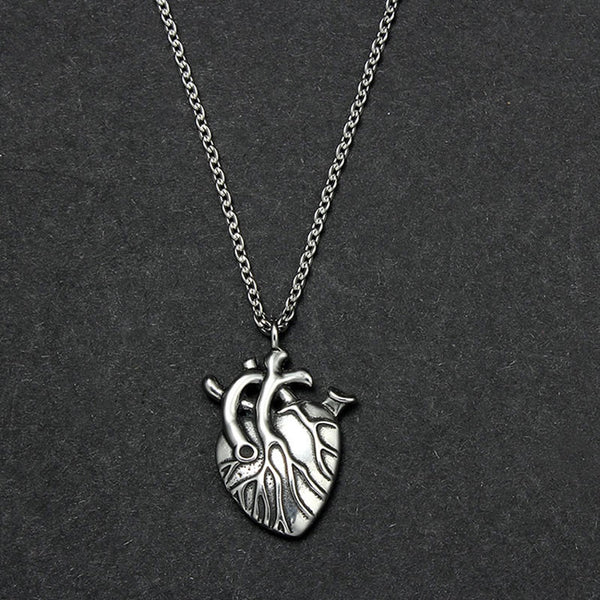 Punk Anatomical Heart Necklace