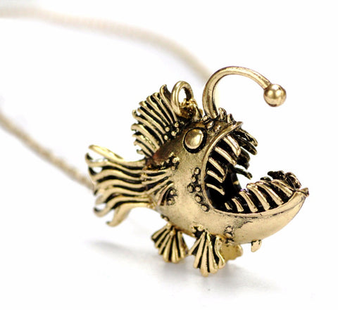 Angler Fish Pendant Necklace