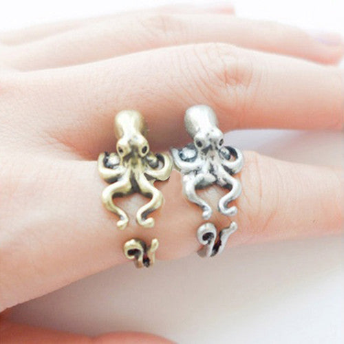 Little Octopus Clasp Knuckle ring