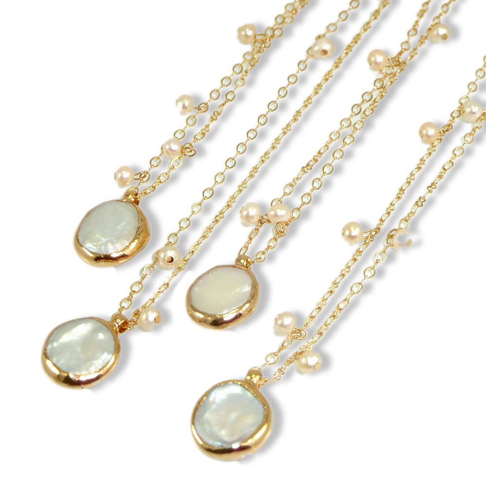 Pearl Necklace Pearl Wedding Jewelry June Birthstone Bridal