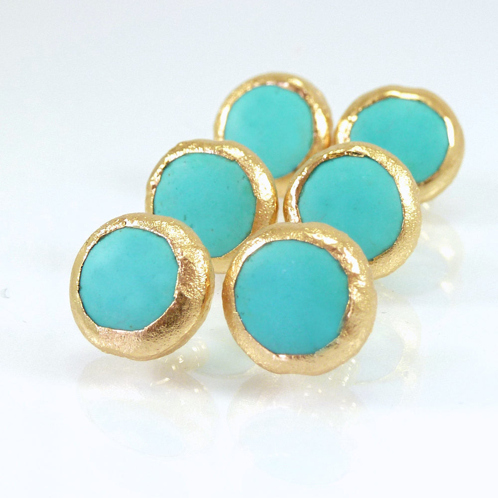 gold studs earrings gemstone turqouise products turquoise il jewelry fullxfull minimalist stud