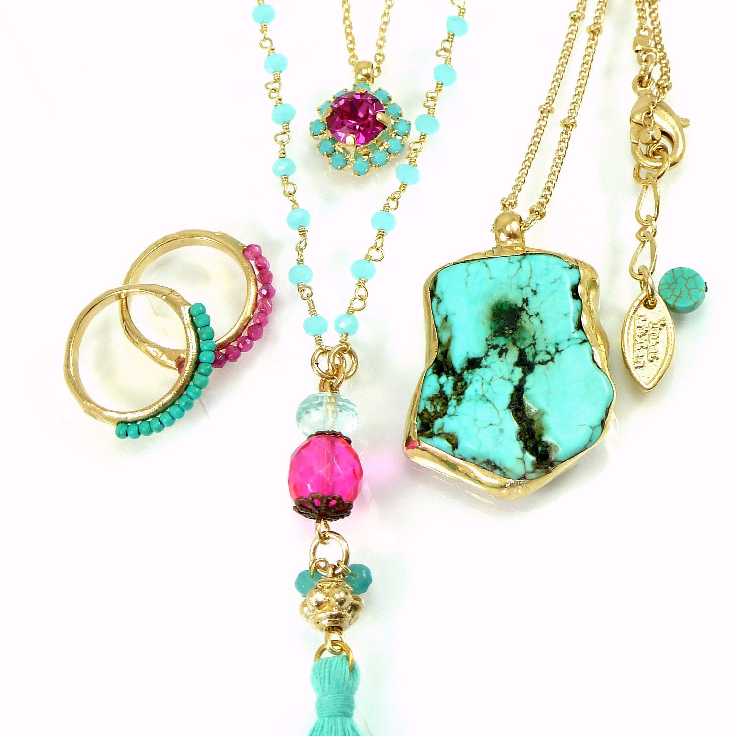 throat and zoe chakra piper gold on gemstone chain turquoise products briolette necklace filled a yg