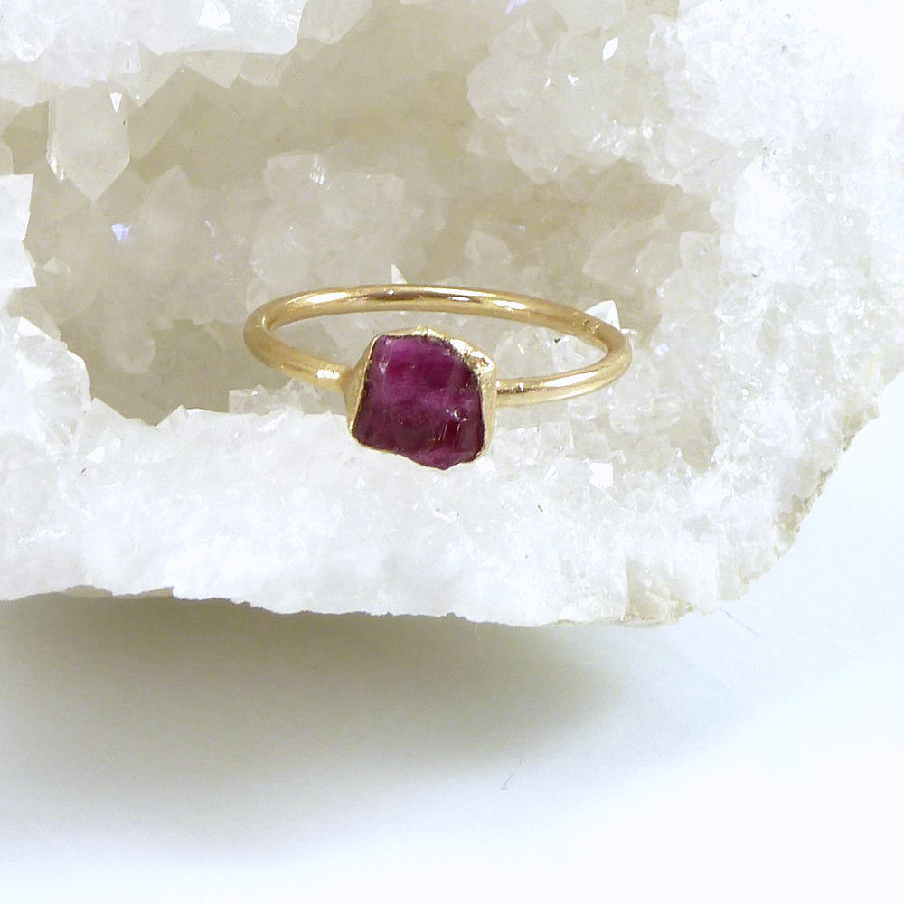 July Birthstone Freeform Ring Stack Ring July Ring Unique Ring Sterling Ring Ruby Ring Square Ring Ruby Jewelry Silver Ring