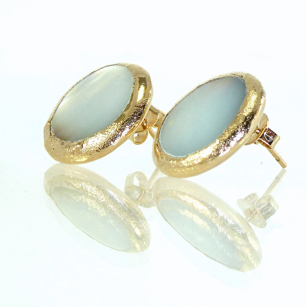shell qgii il jewelry inbal mishan stud stone post products fullxfull studs gold delicate gemstone everyday earrings