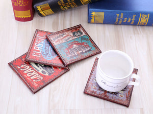 Set of 4 Vintage Car Coaster - DEALYEA.COM