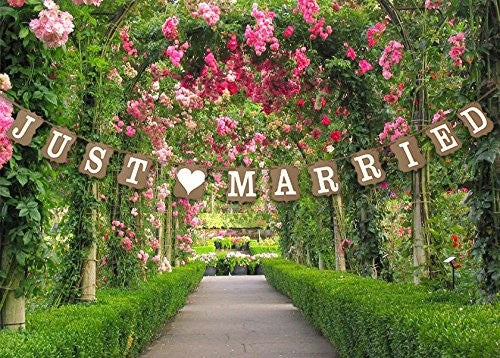 JUST MARRIED Wedding Decoration