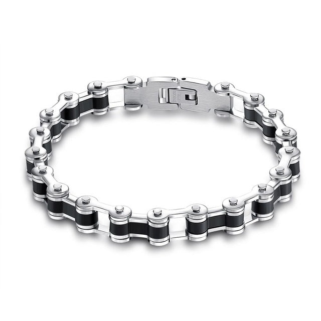 Bike Chain Stainless Steel Bracelet in 3 Color Choices