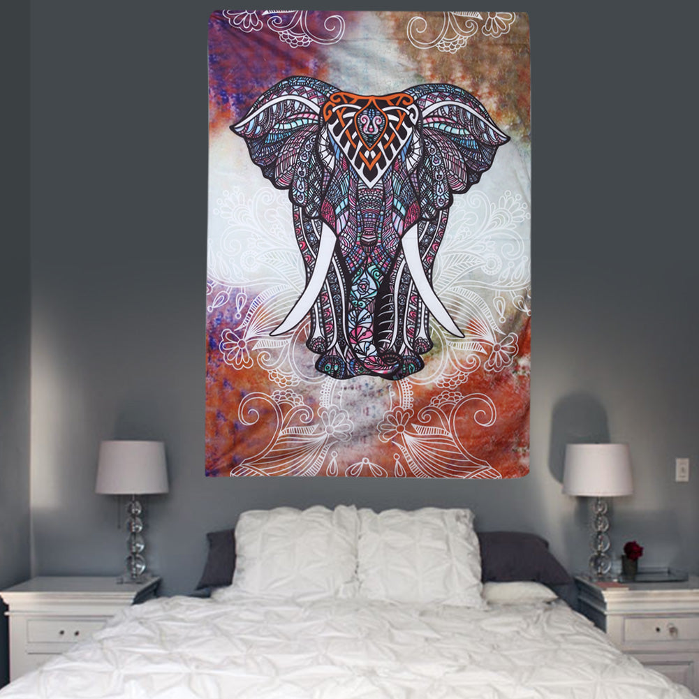 Elephant Mandala Tapestry 2 Sizes 4 Designs
