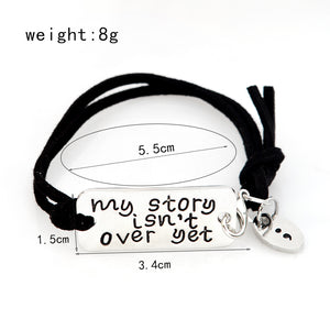 "INSPIRE Collection...""My Story Isn't Over Yet""  Semicolon Bracelet"