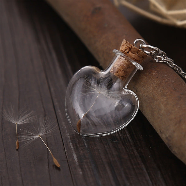 Dandelion In A Bottle Necklace