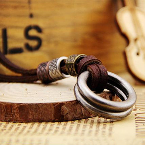 Men Leather Minimalist Necklaces 6 Styles!