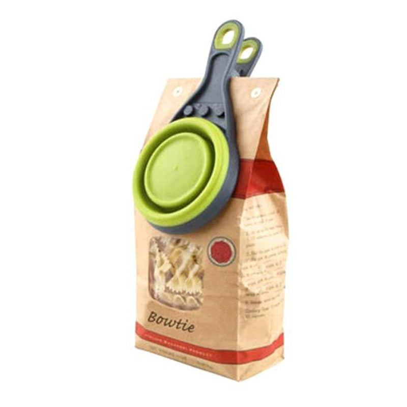 Pet Food Scoop Folding With Clip