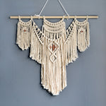 Macrame Wall Hanging Handmade Natural Fiber Art