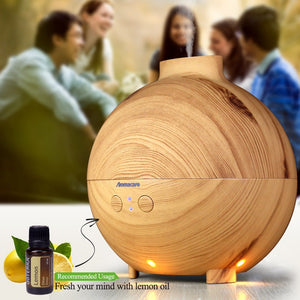 600ml, 20 ounce (2 1/2 cup)  Essential Oil Diffuser Ultrasonic Humidifier