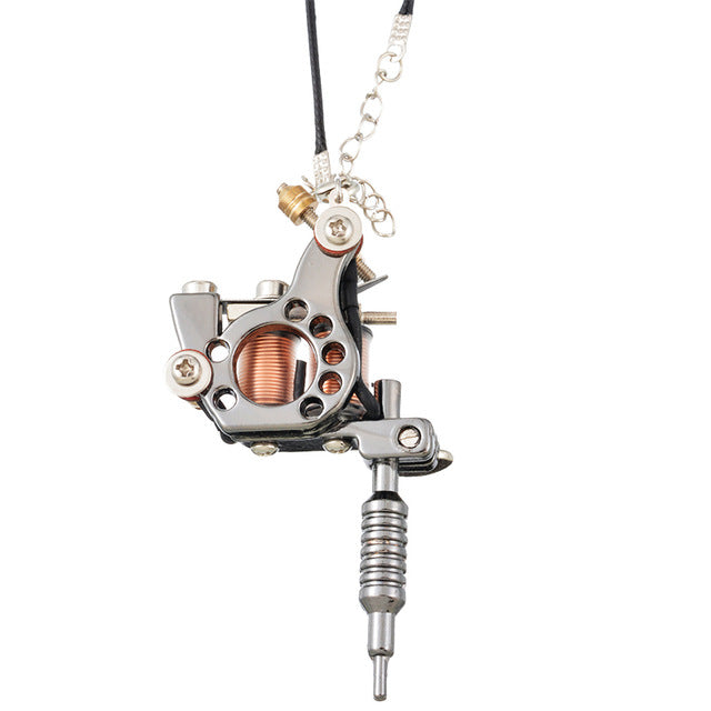 Mini Tattoo Machine Pendant Multiple Styles
