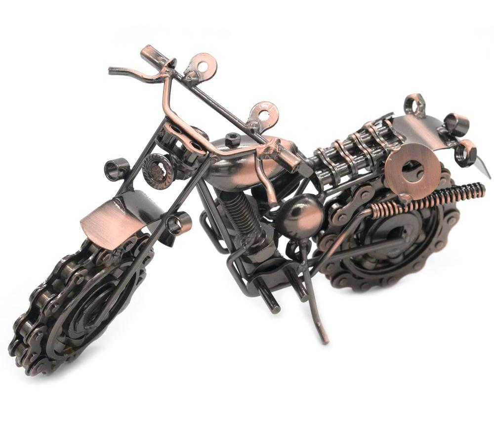 Handmade Nuts & Bolts Motorcycle Artistic Sculpture