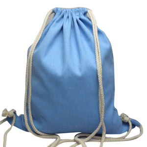 Solid Canvas Drawstring Back Pack (Meets the criteria for many public school back packs)