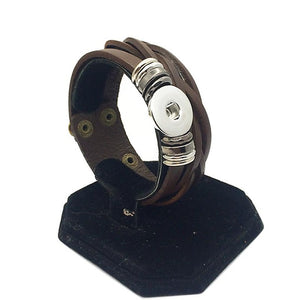 18mm Leather Snap Band 6 Colors!