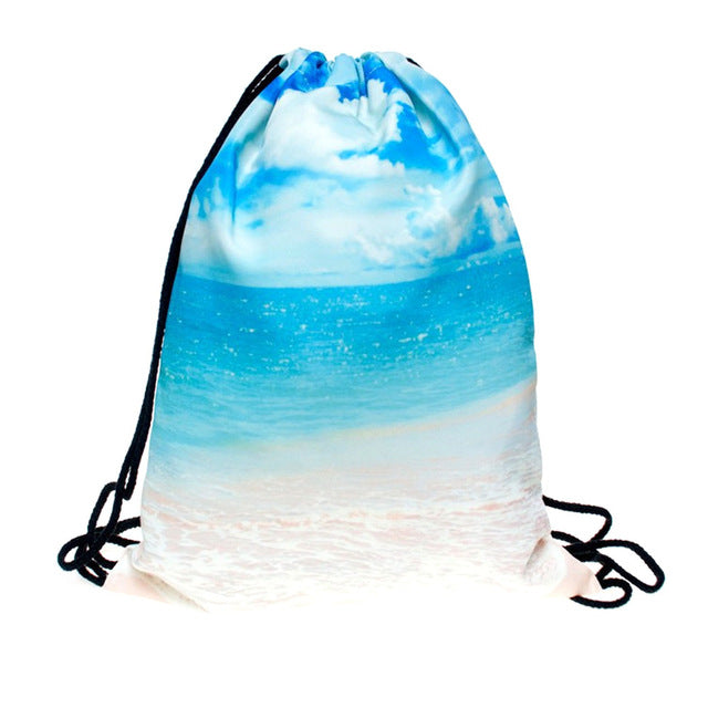 Life's a Beach Drawstring Back Pack