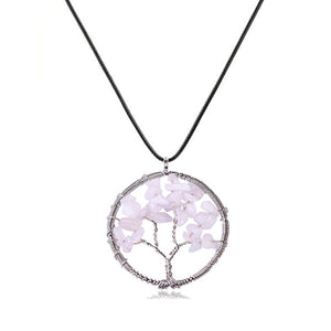 INSPIRE Collection Tree Of Life Necklace 2 Tree Shapes and Multi Color Options