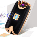 Dual Arc Windproof Electronic Lighter with Fingerprint Touch Feature