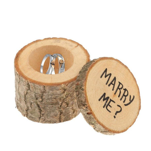 Wooden Log Wedding, Engagement, Jewelry Holder